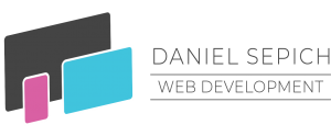 Daniel Sepich Web Development Logo showing three website design screen sizes representing a desktop, tablet, and mobile device.