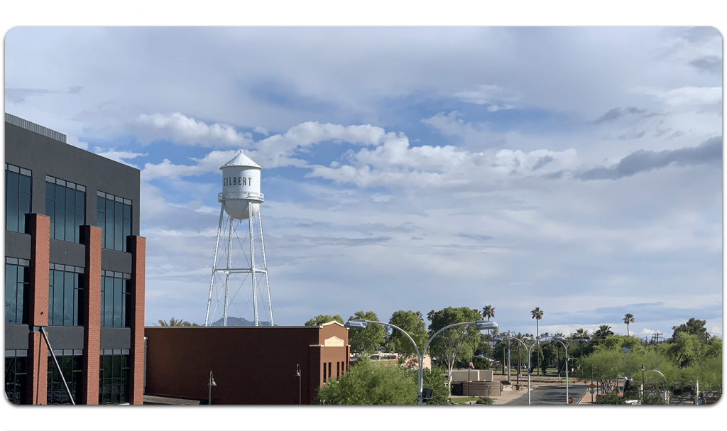 Local WordPress Web Design in Gilbert AZ demonstrated with the Gilbert Water Tower.